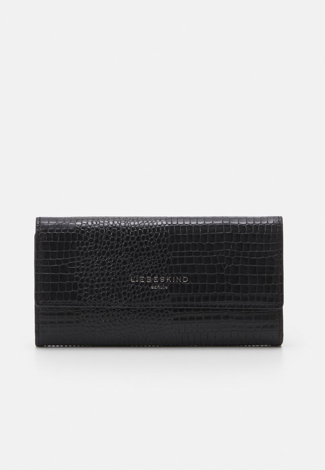 MERYL LIZARD TALIA WALLET LARGE - Lommebok - black