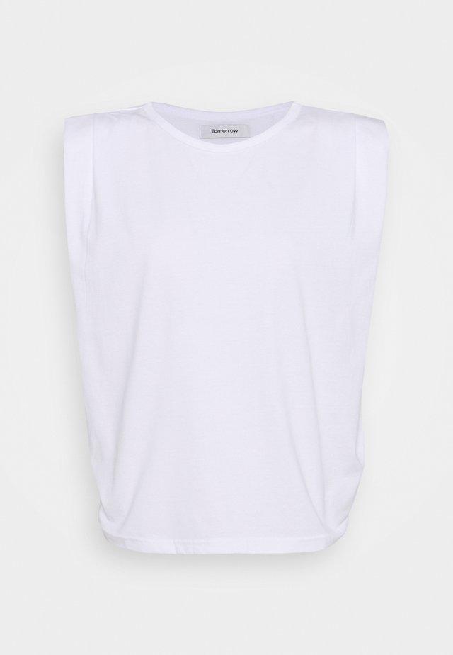 CASUAL SHOULDER TEE - Basic T-shirt - optical white