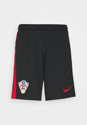 KROATIEN CRO SHORT - Sports shorts - black/university red