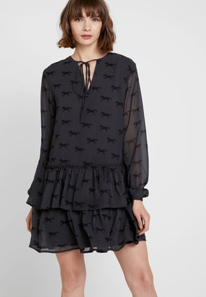 COWGIRL GIDDY UP PRINTED SHORT DRESS - Day dress - black