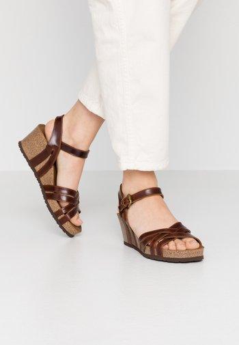VERA CLAY - Wedge sandals - brown
