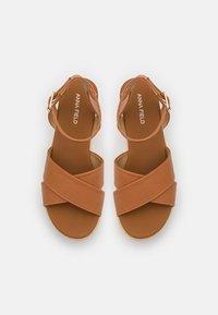 Anna Field - Korkeakorkoiset sandaalit - cognac - 5