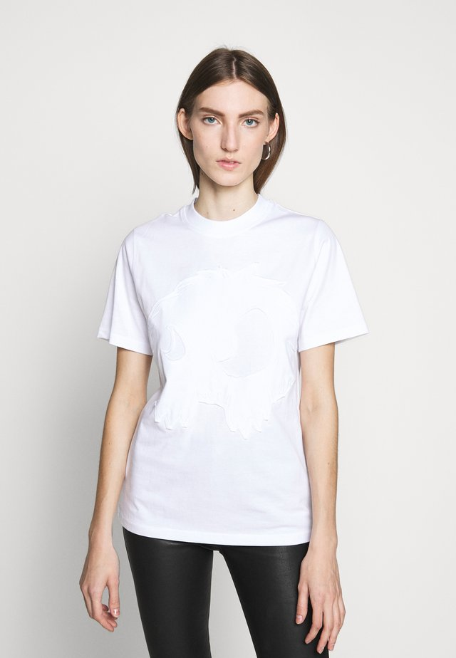 BAND TEE - T-shirt con stampa - optic white