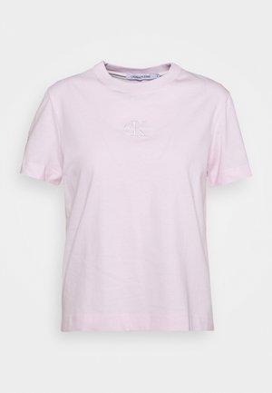 MONOGRAM LOGO TEE - Basic T-shirt - pearly pink/quiet grey