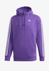 adidas Originals - STRIPES HOODIE - Mikina skapucí - purple - 8