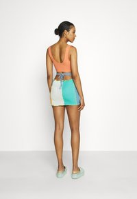 Jaded London - PANELLED MINI SKIRT WITH KNICKER DETAIL  - Mini skirt - blue/ green/ orange - 2