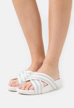 LULU STRIPE SLIDES - Mules - white