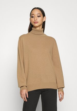 ANNALISE - CASHMERE ROLL NECK - Sweter - camel