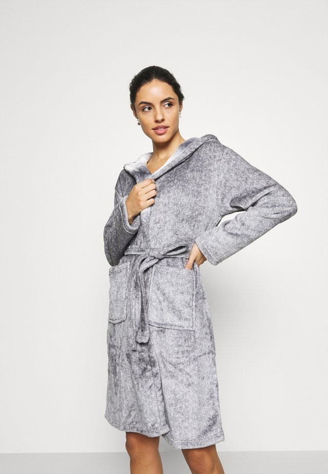 RACOON HOODED ROBE - Dressing gown - grey