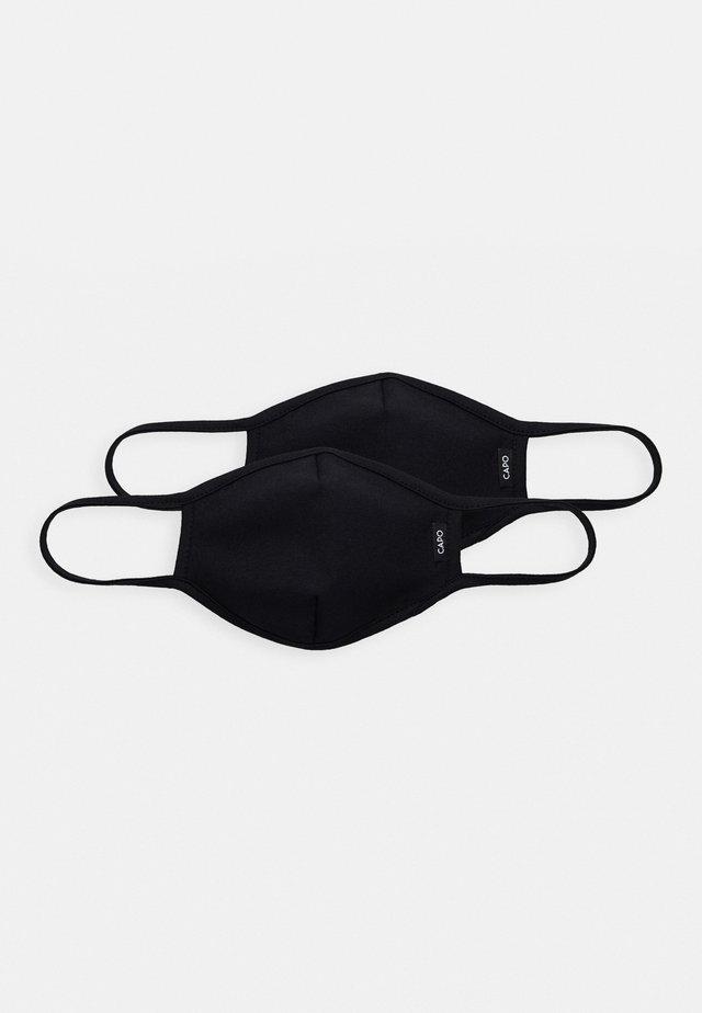 FACEMASK 2 PACK - Munnbind i tøy - black
