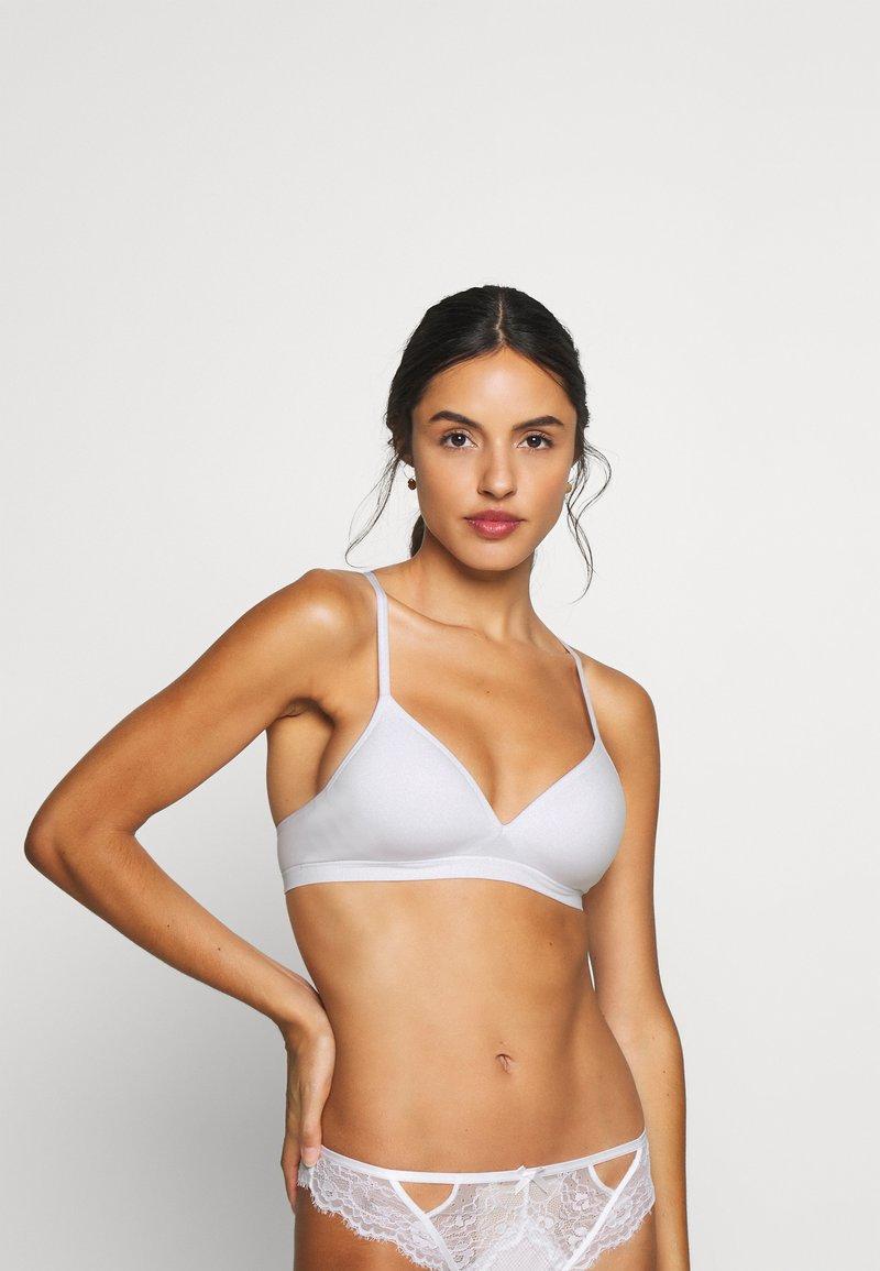 Lindex - Triangle bra - white