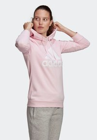adidas Performance - ESSENTIALS RELAXED LOGO HOODIE - Felpa con cappuccio - pink - 4