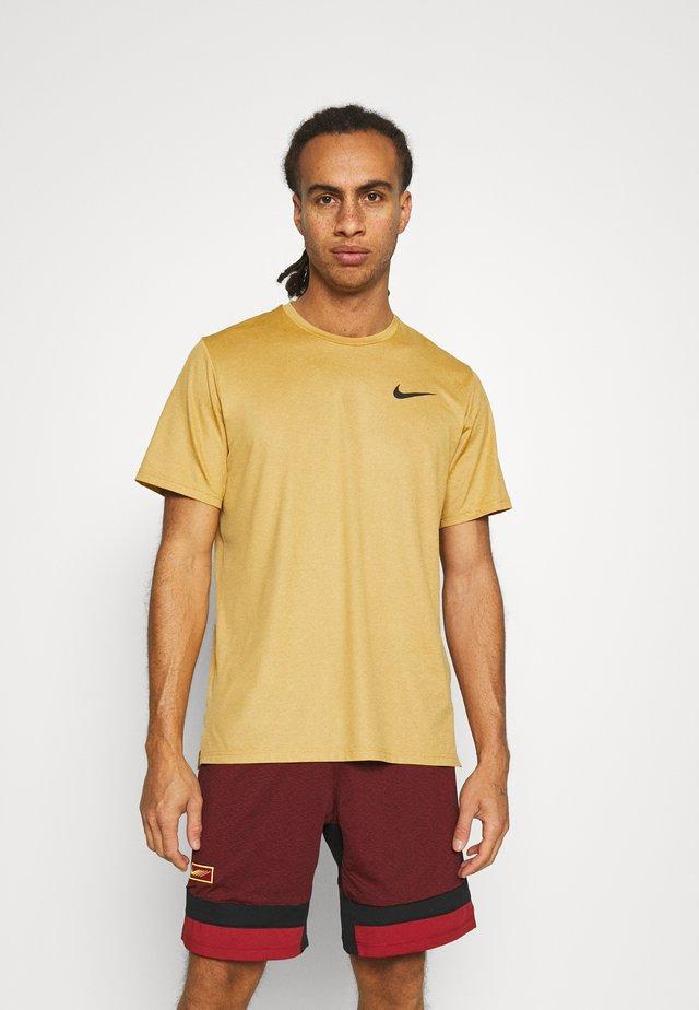 Basic T-shirt - wheat/solar flare/black