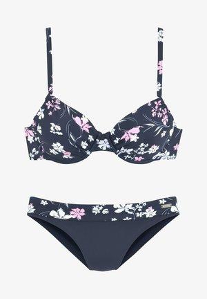 Bikini - marine-bedruckt