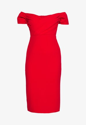 BARDOT DRESS - Robe de soirée - red