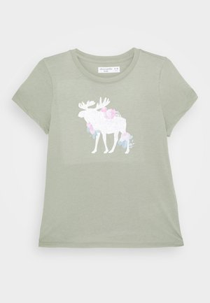 LOGO - Print T-shirt - light green
