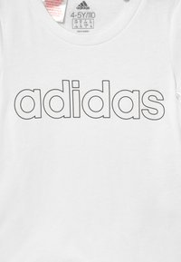 adidas Performance - UNISEX - T-Shirt print - white/black - 2