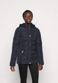 Dorothy Perkins Tall - GLOSSY HOODED JACKET - Talvitakki - navy - 0