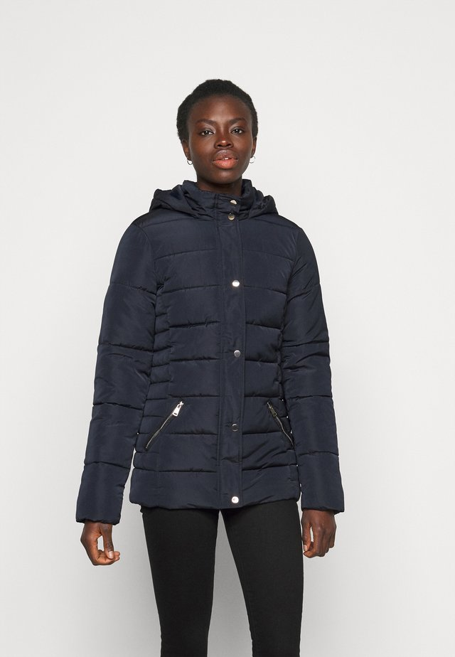 GLOSSY HOODED JACKET - Winter jacket - navy