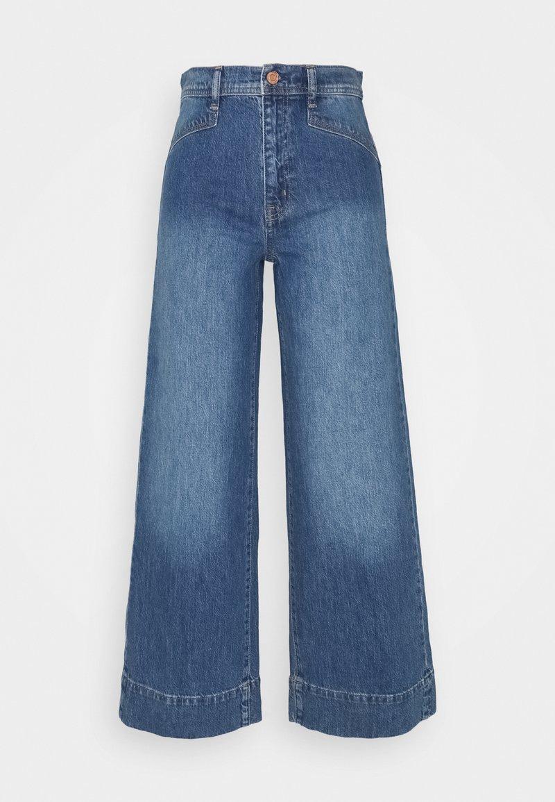 GAP - WIDE LEG VERNON VINTAGE DETAILS - Flared Jeans - medium indigo
