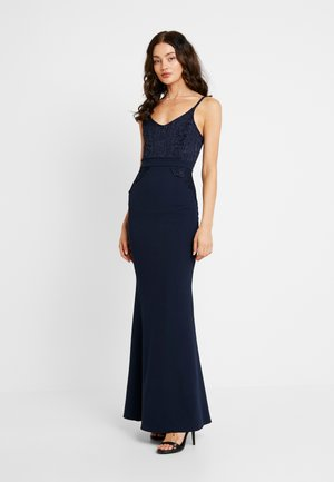 THIN SCOOP NECK - Cocktail dress / Party dress - navy