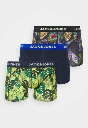 JACSPACE FLOWERS TRUNKS 3 PACK - Pants - black/navy blazer/green