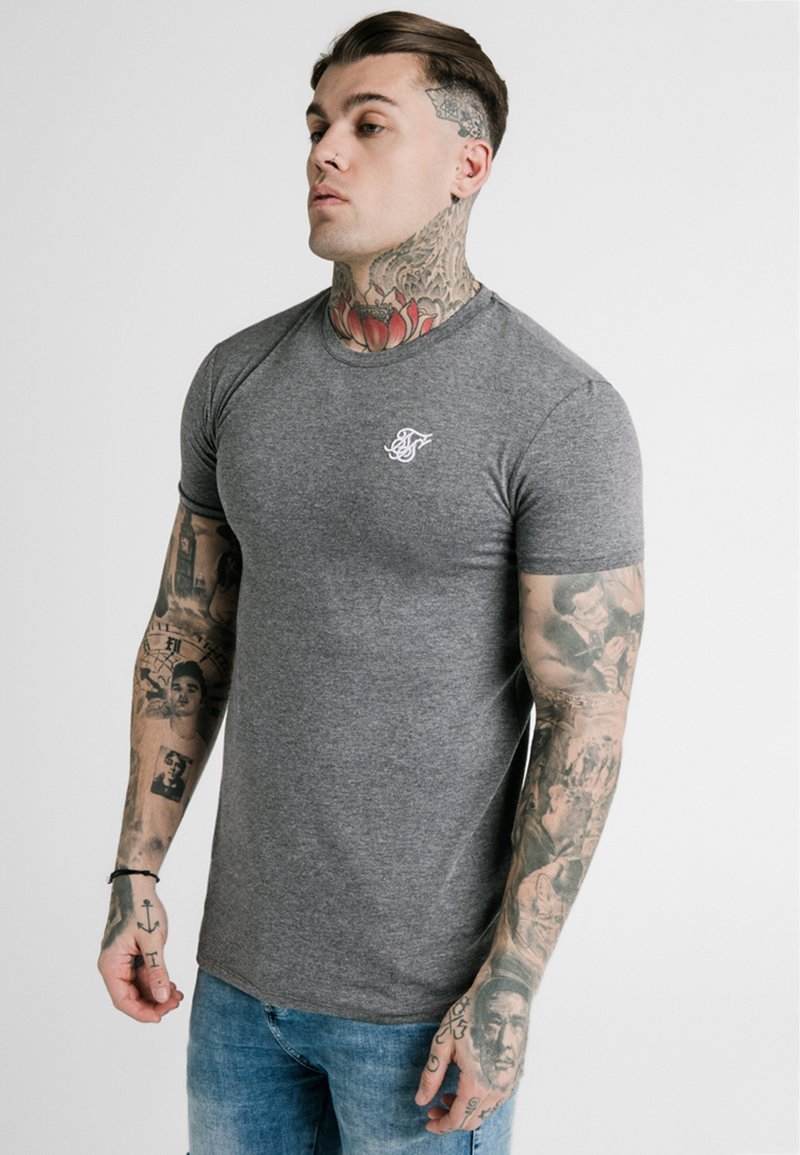 SIKSILK - STRAIGHT GYM TEE - T-shirt basic - grey