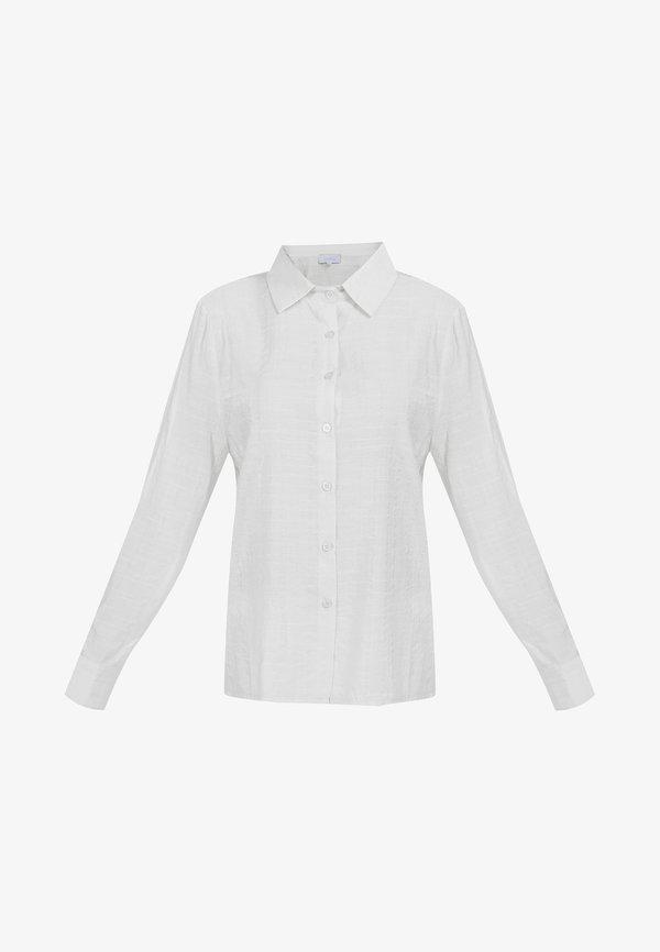 usha KLASSISCHE BLUSE - Koszula - weiss/biały SGSJ