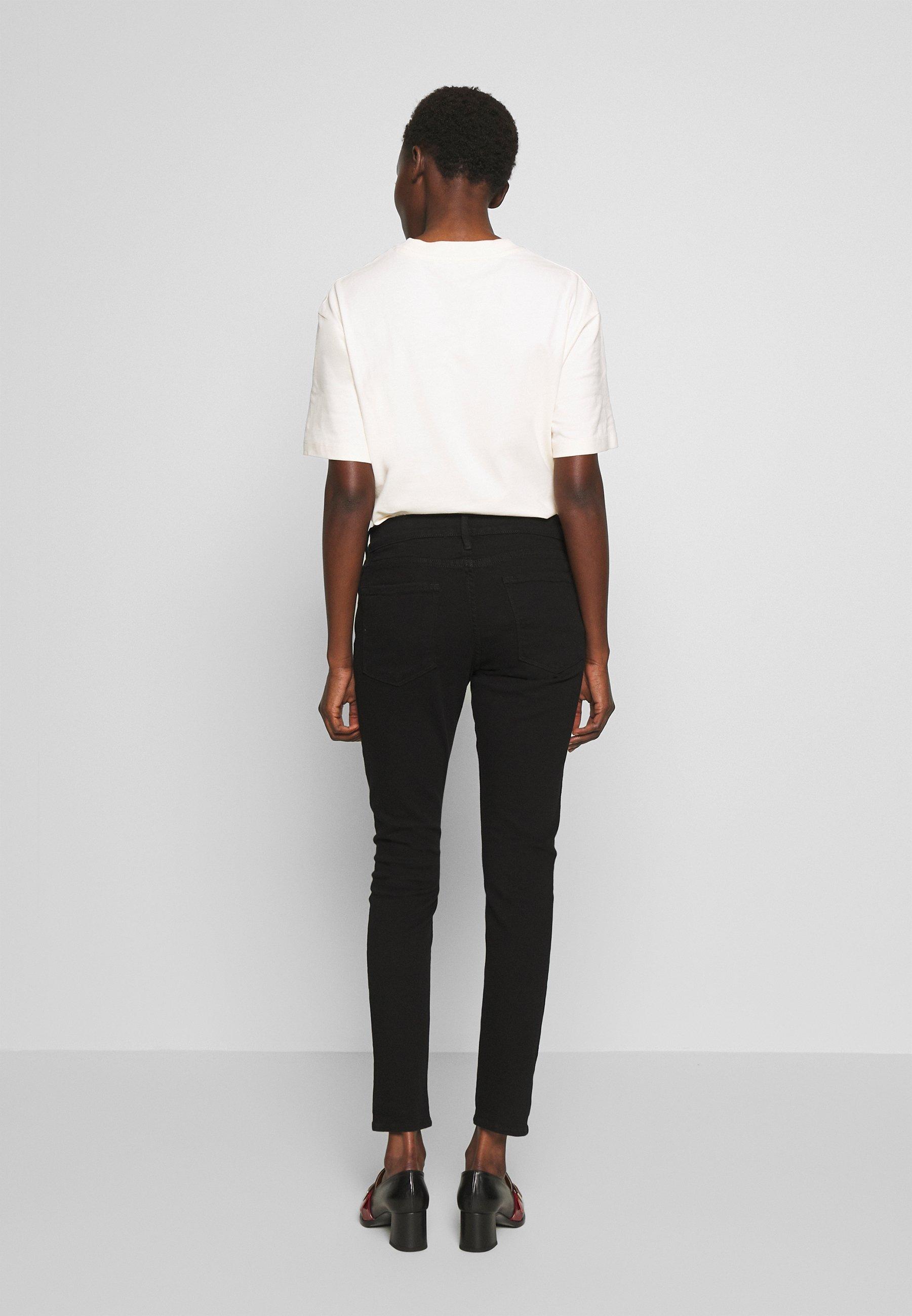 Low Cost Women's Clothing Frame Denim LE GARCON  Jeans Skinny Fit noir TA9yVLlqd