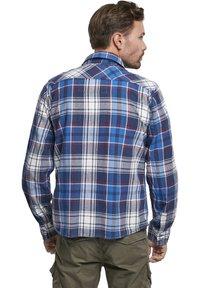 Brandit - HERREN CHECKSHIRT - Shirt - navy - 1