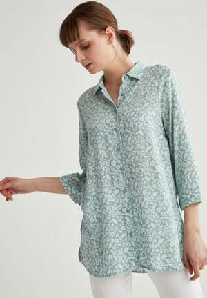 Button-down blouse - turquoise