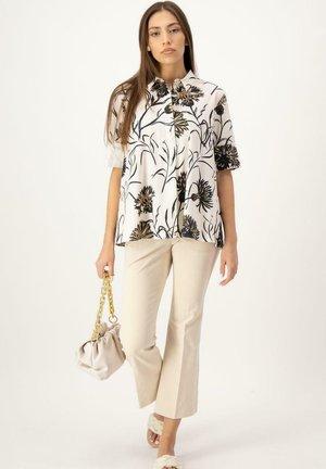 Button-down blouse - beige druck