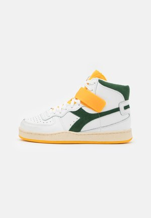 MI BASKET MID ICONA UNISEX - Sneakers hoog - white/greener pastures/goldfinch