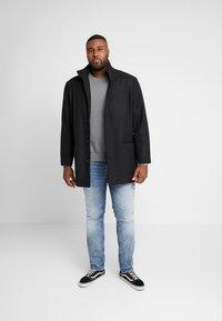 GANT - PLUS CREW - Stickad tröja - dark grey melange - 1