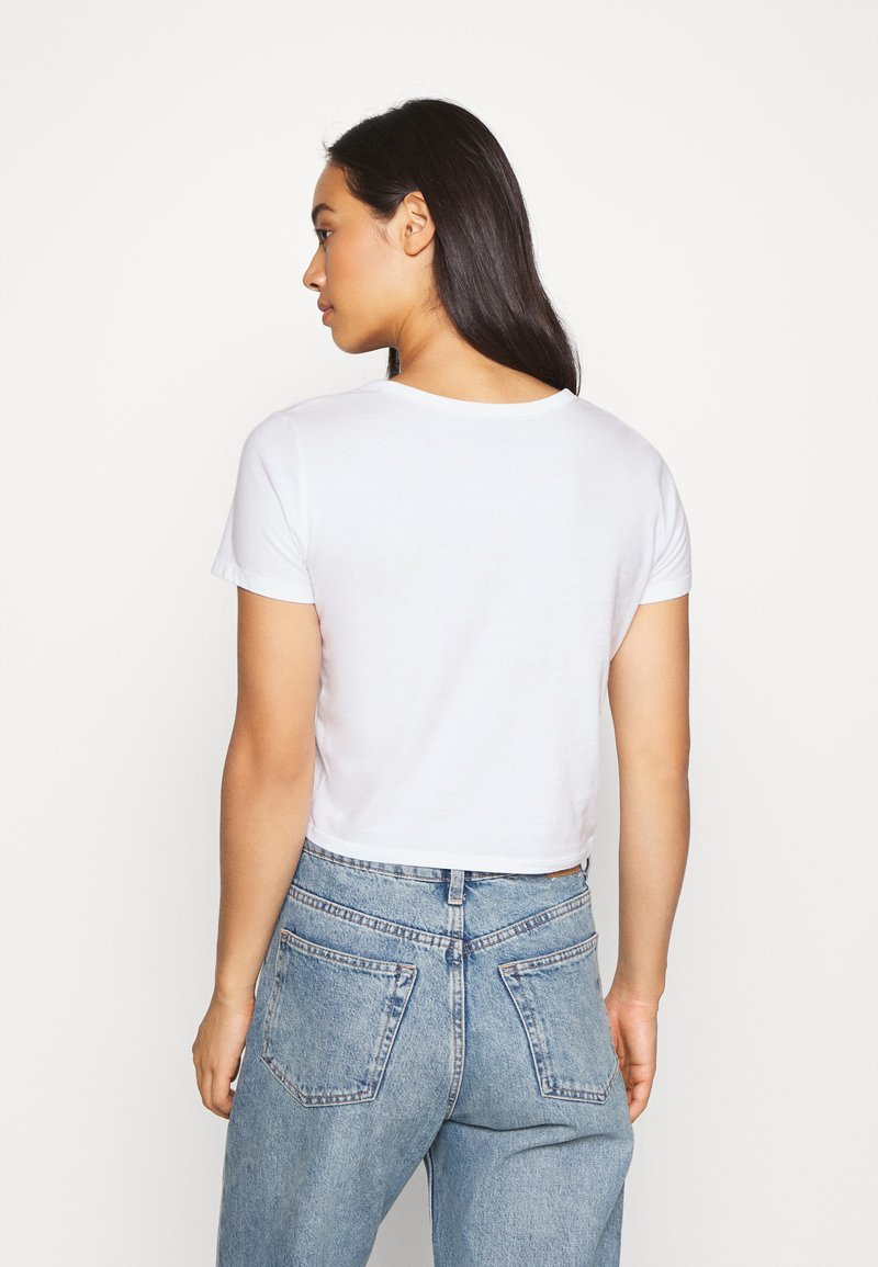 Hollister Co. TUCKABLE SPORTY - T-Shirt print - white/weiß VzyOmd