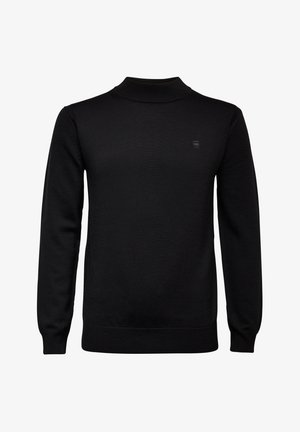 PREMIUM CORE MOCK TURTLE LONG SLEEVE - Stickad tröja - dk black