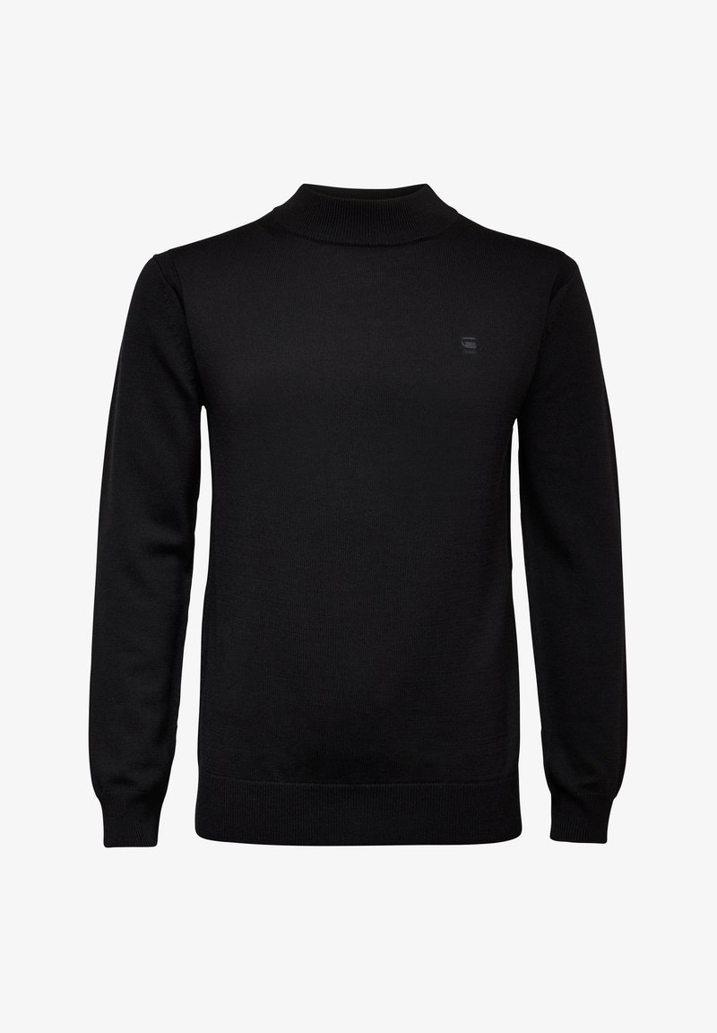 G-Star - PREMIUM CORE MOCK TURTLE LONG SLEEVE - Jumper - dk black