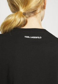 KARL LAGERFELD - IKONIK RHINESTONE  - Print T-shirt - black - 4