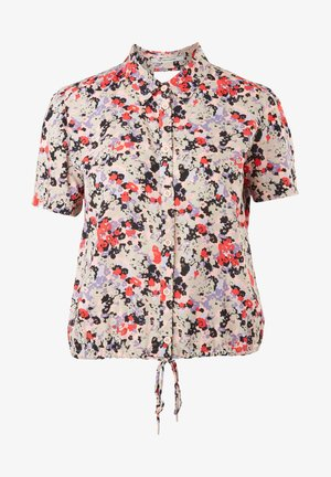 Button-down blouse - pink aop