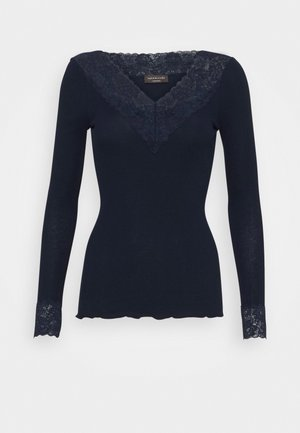 ORGANIC VNECK REGULAR - Long sleeved top - navy