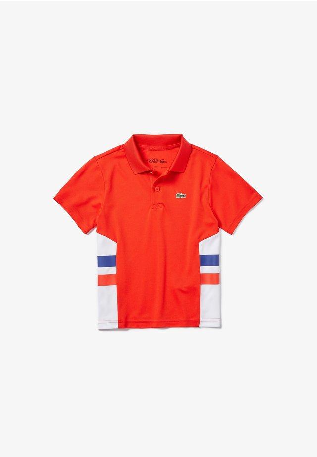 LACOSTE SPORT - POLO MANCHES COURTES ENFANT - Poloshirt - rouge/blanc/bleu/rouge