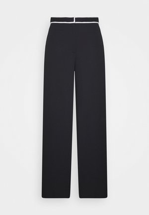 RUMPLED PANT - Trousers - black
