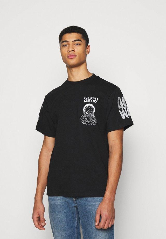 REGULAR TEE - T-shirt imprimé - black