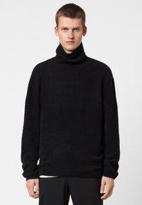 AllSaints - EAMONT FUNNEL - Fleece jumper - black - 0