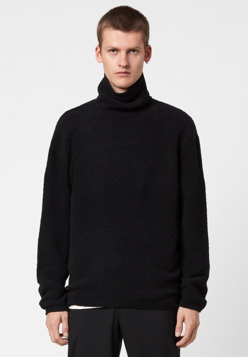 AllSaints - EAMONT FUNNEL - Fleece jumper - black