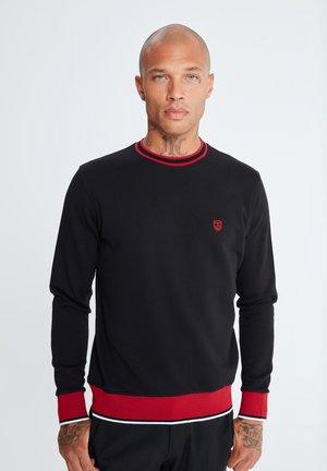 MIT UNIFARBENEM STOFF - Sweatshirt - schwarz