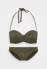 Buffalo - WIRE BANDEAU SET - Bikini - oliv - 6