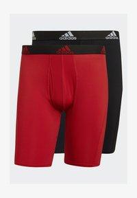 adidas Performance - BRIEF 2 PACK - Pants - black/scarlet - 7
