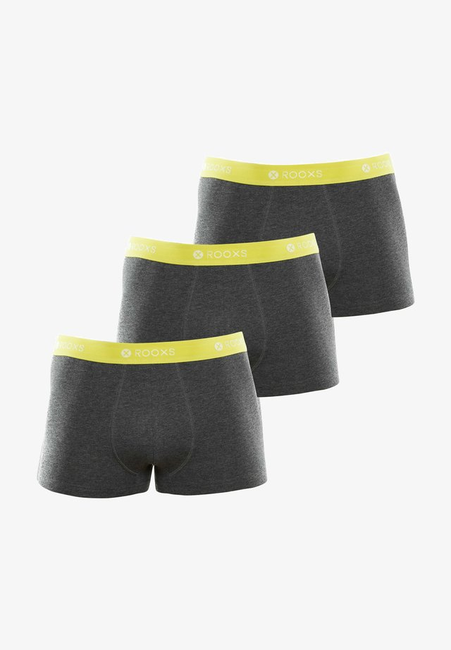 3 PACK - Pants - grau - gelb