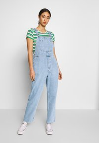 Monki - CIARA DUNGAREES - Overall /Buksedragter - blue medium dusty - 0